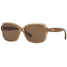 Buy Ralph Lauren RA5216 Square Sunglasses, Beige Online at johnlewis.com