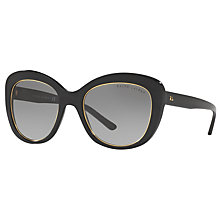 Buy Ralph Lauren RL8149 Cat's Eye Sunglasses, Black Online at johnlewis.com