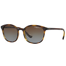 Buy Vogue VO5051S Polarised Oval Sunglasses, Tortoise Online at johnlewis.com