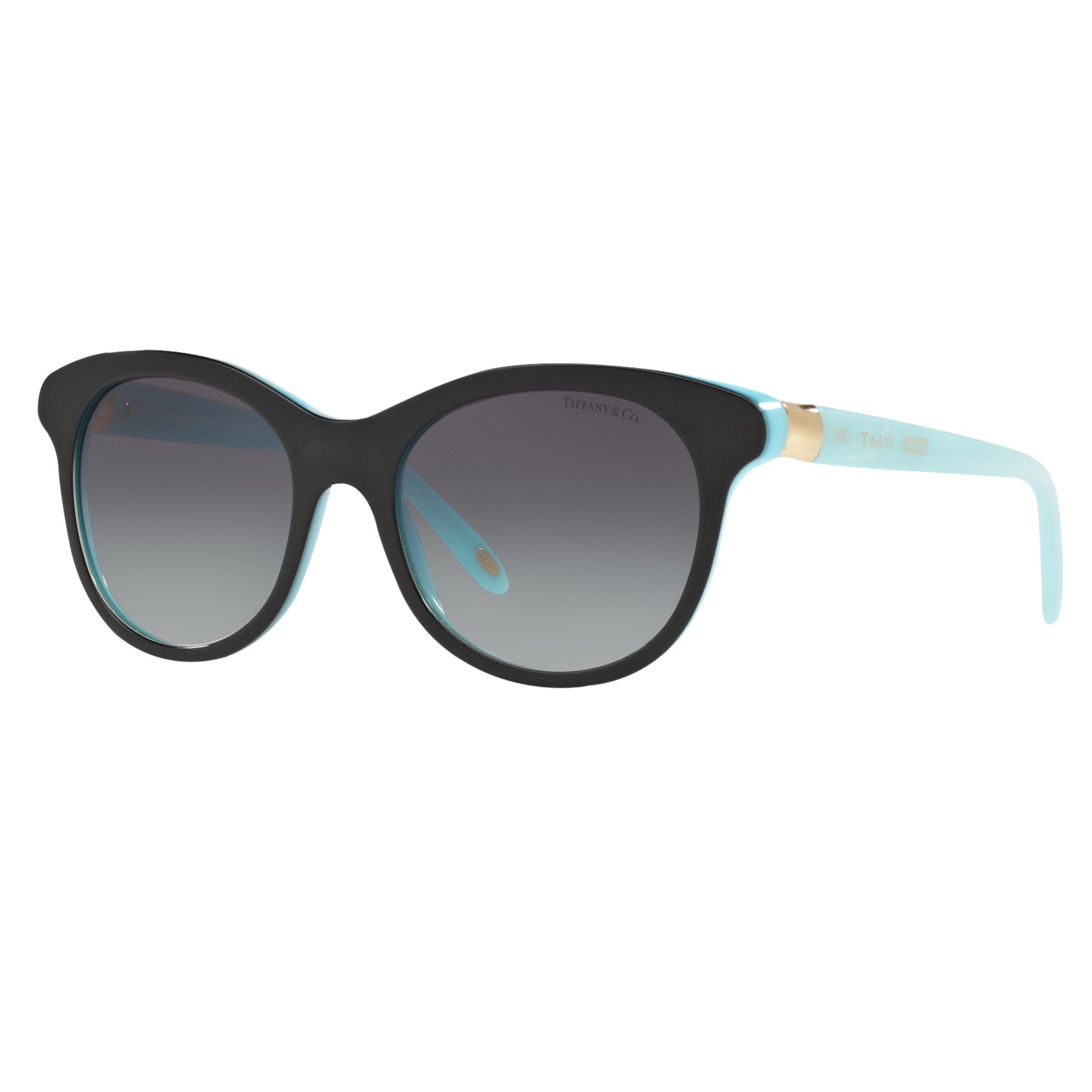Tiffany & Co Tiffany & Co TF4125 Oval Sunglasses, Black/Sky Blue