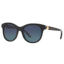 Buy Tiffany & Co TF4125 Polarised Oval Sunglasses, Black Online at johnlewis.com