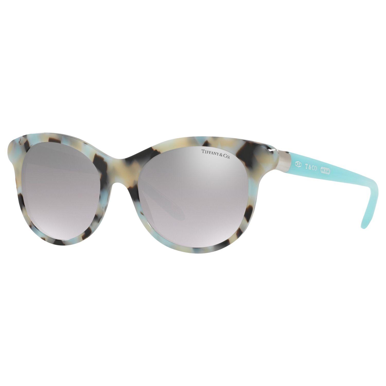 Tiffany & Co Tiffany & Co TF4125 Oval Sunglasses, Tortoise/Sky Blue