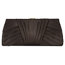 Buy Phase Eight Nina Satin Clutch Bag, Chocolate Online at johnlewis.com