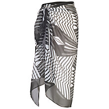 Buy Chesca Aztec Print Sarong, Black/White Online at johnlewis.com