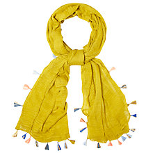 Buy White Stuff Tassel Scarf, Nectar Yellow Online at johnlewis.com