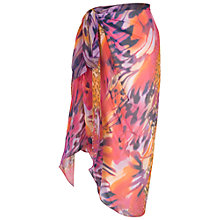 Buy Chesca Animal Print Sarong, Pink/Purple Online at johnlewis.com