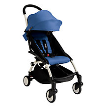 Buy Babyzen Yoyo+ Pushchair, White/Blue Online at johnlewis.com