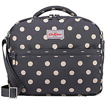 Buy Cath Kidston Button Spot Flight Bag, Charcoal Online at johnlewis.com