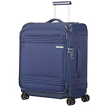Buy Samsonite Smarttop Spinner 4-Wheel 56cm Cabin Suitcase, Blue Online at johnlewis.com
