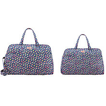 Buy Cath Kidston Cotton Ditsy Weekend Bag, Blue Online at johnlewis.com