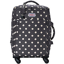 Buy Cath Kidston Buttonspot 55cm 4-Wheel Cabin Case, Charcoal Online at johnlewis.com