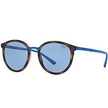 Buy Polo Ralph Lauren PH3104 Oval Sunglasses, Tortoise/Blue Online at johnlewis.com