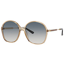 Buy Gucci GG 3844/S Round Sunglasses, Beige/Grey Gradient Online at johnlewis.com