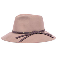 Buy Powder Madeline Fedora Hat, Stone/Mulberry Online at johnlewis.com