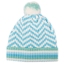 Buy Green Thomas Chevron Pom Pom Beanie Hat Online at johnlewis.com