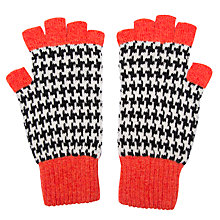 Buy Green Thomas Houndstooth Fingerless Gloves, Orange Mix Online at johnlewis.com