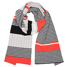 Buy Green Thomas Houndstooth Scarf, Orange Mix Online at johnlewis.com