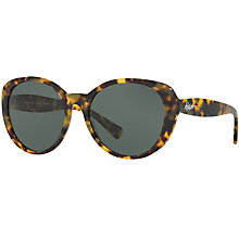 Buy Ralph Lauren RA5212 Oval Sunglasses, Light Havana Online at johnlewis.com