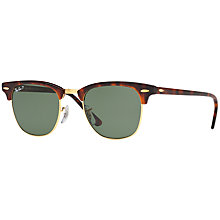 Buy Ray-Ban RB3016 Polarised Clubmaster Sunglasses Online at johnlewis.com