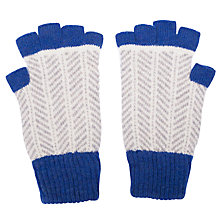 Buy Green Thomas Herringbone Fingerless Gloves, Dark Blue/Grey Online at johnlewis.com