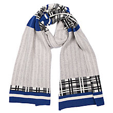 Buy Green Thomas Herringbone Scarf, Dark Blue/Grey Online at johnlewis.com