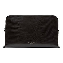 Buy Ted Baker Assfrid Textured Leather Large Wash Bag Online at johnlewis.com