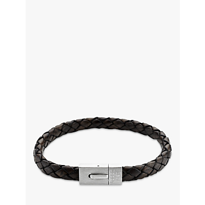 Under the Rose Personalised Men's Leather Bracelet, 22cm