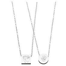 Buy Under the Rose Personalised Hand/Feet Silver Pendant Online at johnlewis.com