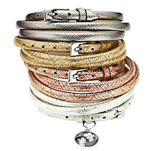 Buy Under the Rose Personalised Photo Wrap Bracelet, Graphite Online at johnlewis.com
