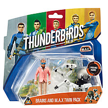 Buy Thunderbirds Brains & M.A.X. Action Figures Twin Pack Online at johnlewis.com