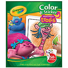 Buy Crayola Dreamworks Trolls Colour & Sticker Book Online at johnlewis.com