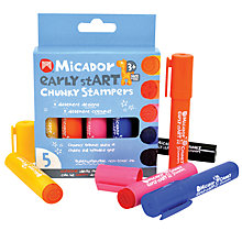 Buy Micador Early Start Chunky Stampers, Pack of 5 Online at johnlewis.com