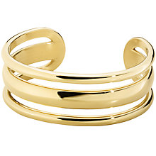 Buy Dyrberg/Kern Sliced Cuff, Gold Online at johnlewis.com