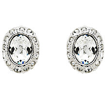 Buy Cachet Ona Oval Swarovski Crystal Stud Earrings, Silver Online at johnlewis.com