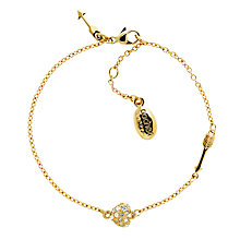 Buy Cachet Hearts Swarovski Crystal Chain Bracelet, Rose Gold Online at johnlewis.com