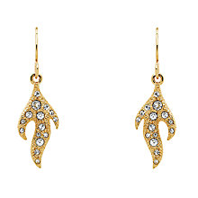 Buy Cachet Swarovski Crystal Flame Drop Earrings, Gold Online at johnlewis.com