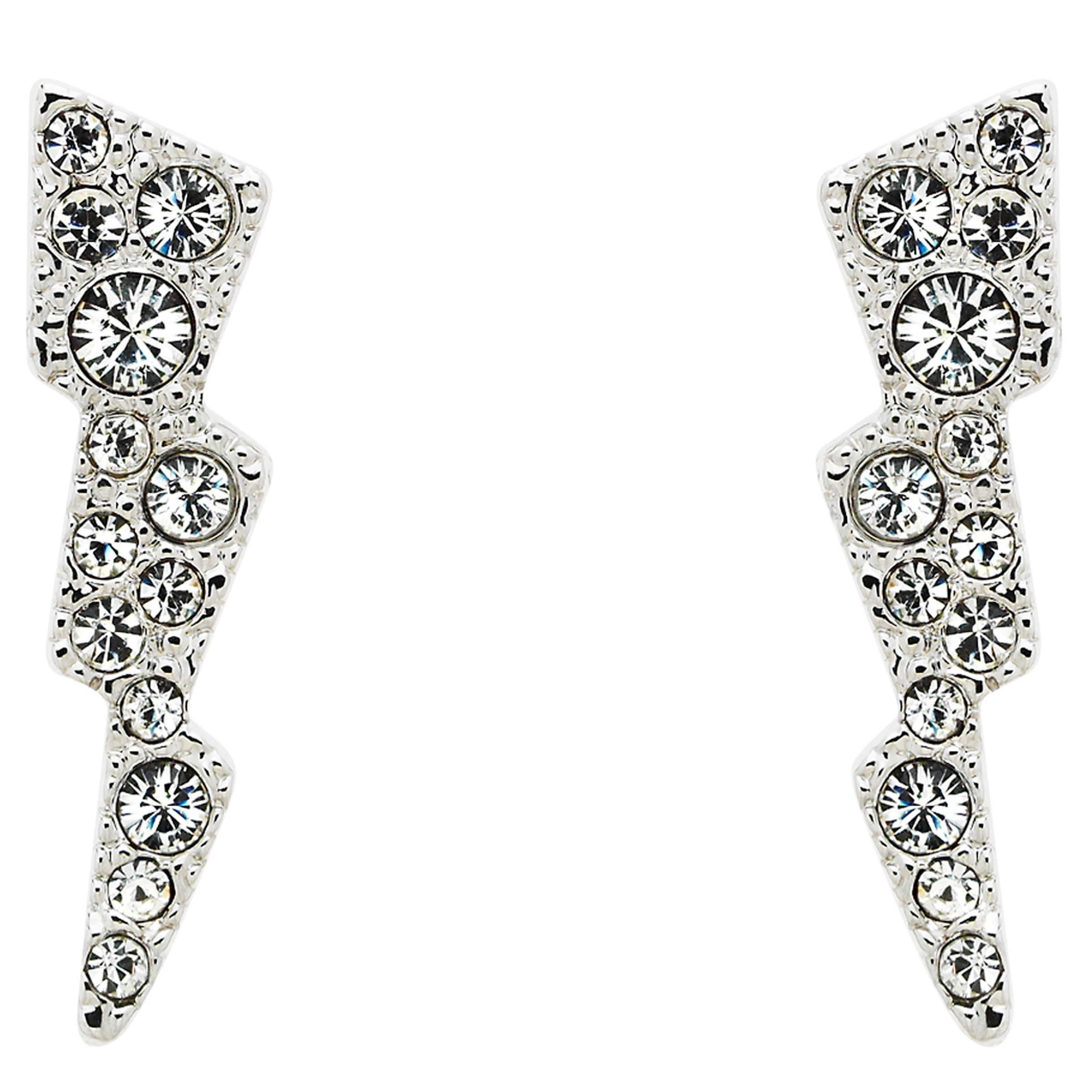 Cachet Cachet Swarovski Crystal Sparks Drop Earrings, Silver