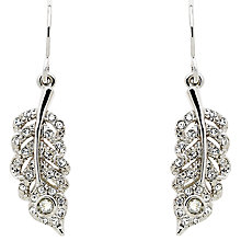 Buy Cachet Peacock Drop Earrings, Silver Online at johnlewis.com