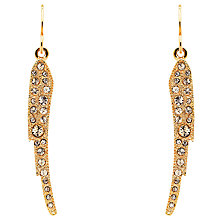 Buy Cachet Angel Wing Swarovski Crystal Drop Earrings, Rose Gold Online at johnlewis.com