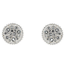 Buy Cachet Bree Swarovski Crystal Pave Stud Earrings, Silver Online at johnlewis.com