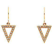 Buy Cachet Swarovski Crystal Triangular Drop Earrings, Rose Gold Online at johnlewis.com