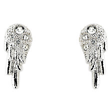 Buy Cachet Wing Swarovski Crystal Stud Earrings, Silver Online at johnlewis.com