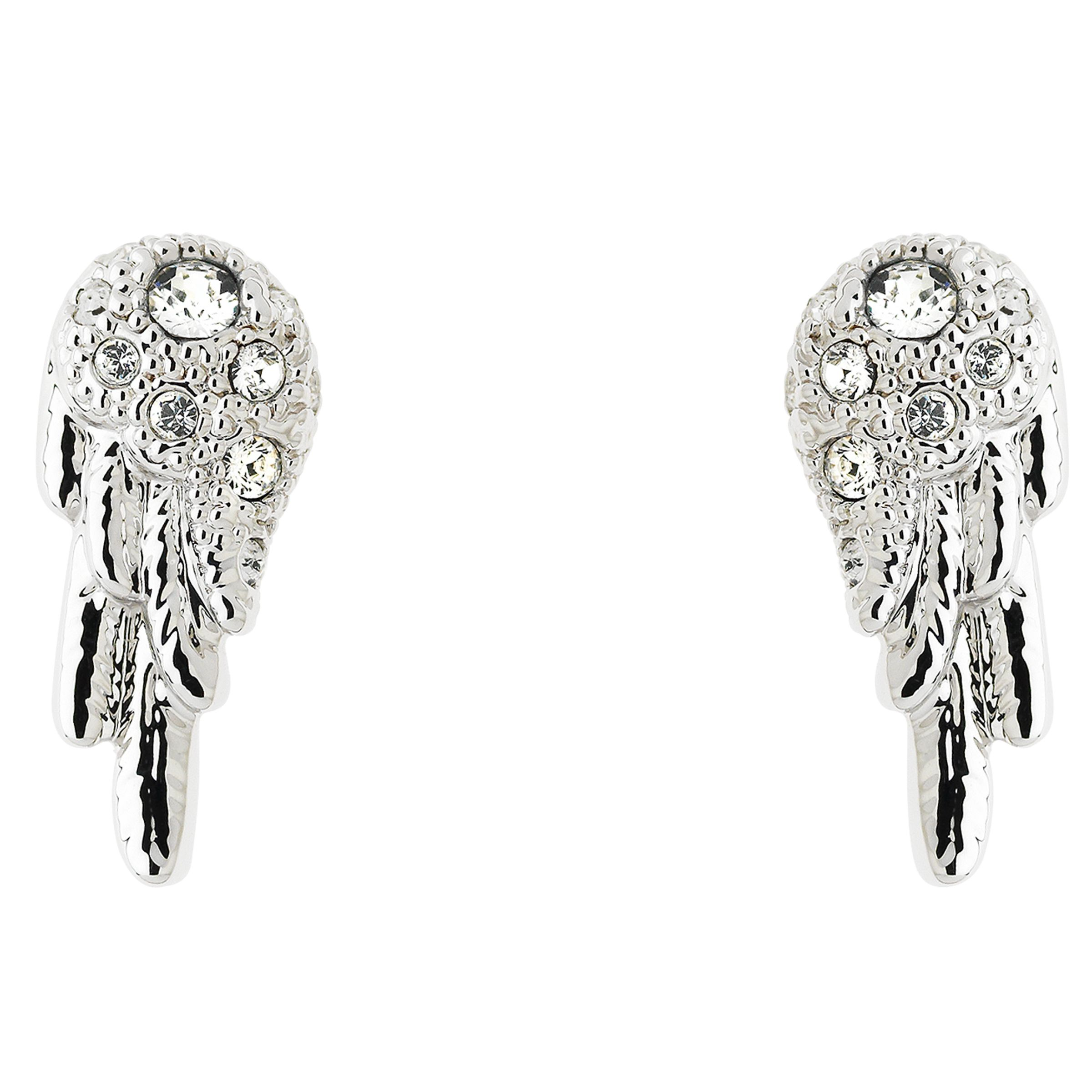 Cachet Cachet Wing Swarovski Crystal Stud Earrings, Silver