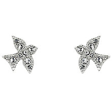 Buy Cachet Swarovski Crystal Dove Stud Earrings, Silver Online at johnlewis.com
