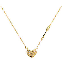 Buy Cachet Cupid Arrow and Swarovski Crystal Heart Necklace, Gold Online at johnlewis.com