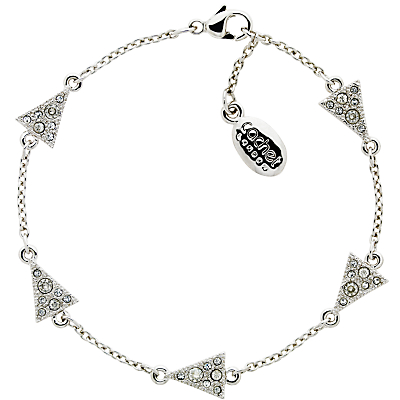 Cachet Bunting Swarovski Crystal Chain Bracelet, Silver