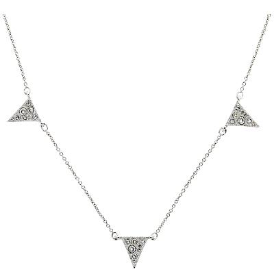 Cachet Bunting Swarovski Crystal Necklace, Silver