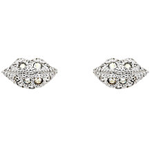Buy Cachet Pout Swarovski Crystal Stud Earrings, Silver Online at johnlewis.com