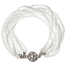 Buy John Lewis Bead Twist Layered Bracelet, Clear/Silver Online at johnlewis.com