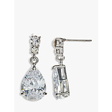 Buy John Lewis Cubic Zirconia and Teardrop Glass Drop Earrings, Silver Online at johnlewis.com